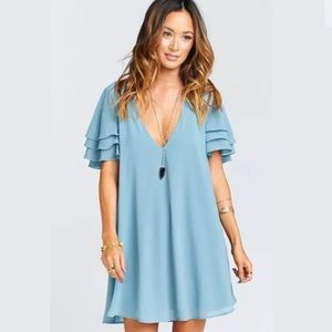 Show Me Your Mumu Size Medium Disick Dress Blue